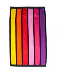 Black.co.uk Rainbow Bright Striped Egyptian Cotton Beach Towel - Lyst