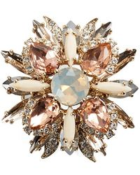 Marchesa - Jeweled Cluster Brooch - Lyst