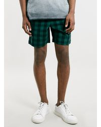 Lac Green Check Sport Style Shorts - Lyst