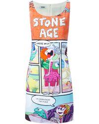 Moschino Cheap & Chic Stone Age Print Dress - Lyst