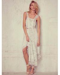 Free People Womens Gemma S Romance Dress white - Lyst