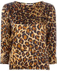 Yves Saint Laurent Vintage Leopard Top - Lyst