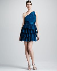 Notte By Marchesa Tiered Cocktail Dress - Lyst