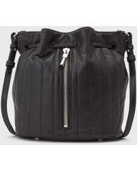 Elizabeth And James Cynnie Mini Bucket Bag black - Lyst