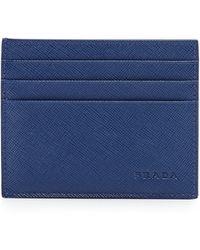 Prada Saffiano Card Case - Lyst