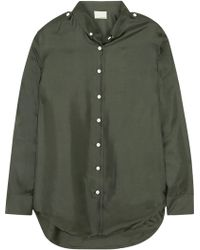 Band of Outsiders Silk-Satin Twill Shirt - Lyst
