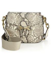 Gucci Lady Web Python Shoulder Bag - Lyst