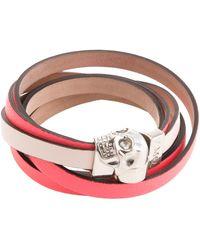Alexander McQueen Wrap-Around Skull Bracelet - Lyst