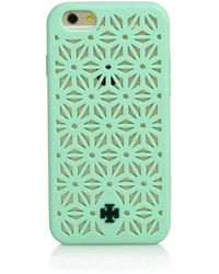 Tory Burch Perforated Silicone Iphone 6 Case green - Lyst
