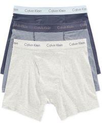 Calvin Klein Men'S Cotton Stretch Boxer Briefs 3-Pack - Lyst