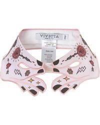 Vivetta Pink Cotton Tattoo Collar - Lyst