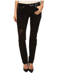 McQ by Alexander McQueen Patched Low Waist Skinny Jeans - Lyst