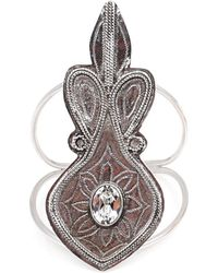 Vanessa Mooney The Enchanter Cuff silver - Lyst