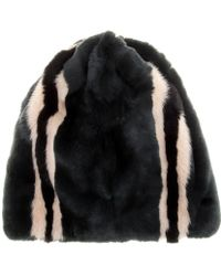 Marni - Rabbit And Mink Fur Hat - Lyst