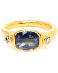 Ram - 22k Gold and Sapphire Ring - Lyst