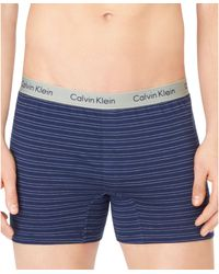 Calvin Klein Mens Knit Slim-fit Boxers - Lyst
