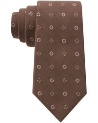 DKNY Silk-blend Floral Embroidered Tie - Lyst