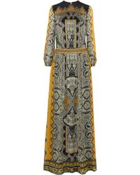 Etro Embellished Paisleyprint Silkjacquard Gown - Lyst
