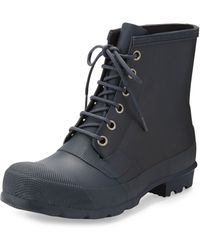 Hunter Original Rubber Lace-up Boot - Lyst