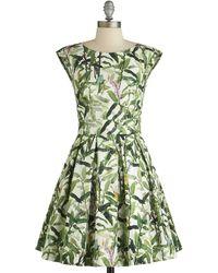 Closet - Uk Fluttering Romance Dress in Flora - Lyst
