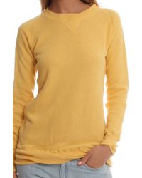V::room Gauze Longsleeve Fleece Crewneck yellow - Lyst