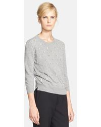 Marc Jacobs Embellished Sweater - Lyst