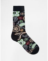 Asos Socks With Bright Paisley - Lyst