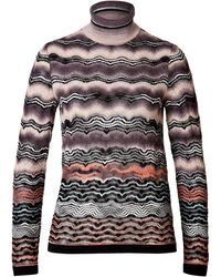 Missoni Variegated Knit Turtleneck - Lyst