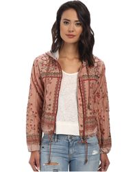 Free People Printed Cotton Voile Patterned Hooded Jacket - Lyst