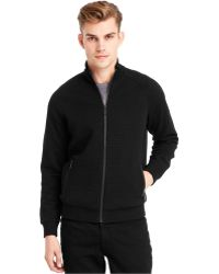 Kenneth Cole New York Full-zip Quilted Sweater - Lyst
