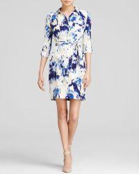Nydj Kelsie Vintage Mosaic Print Shirt Dress - Lyst