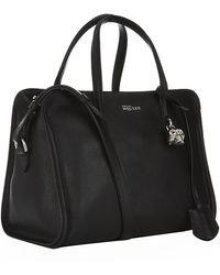 Alexander McQueen Small Padlock Zip Around Bag - Lyst