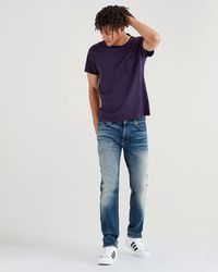 7 For All Mankind - Luxe Sport Adrien Slim Tapered With Clean Pocket In Authentic Outpost - Lyst