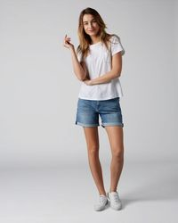 7 For All Mankind Boy Shorts Offshore