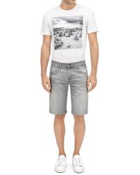 7 For All Mankind - Clean Short Five Pocket Hang Town Light Grey - Lyst