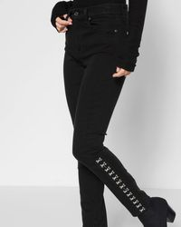7 For All Mankind - B(air) Denim High Waist Ankle Skinny With Hook And Eye Detail - Lyst