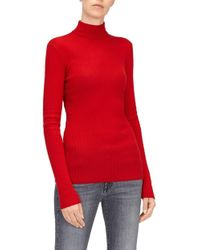 7 For All Mankind - Mock Neck Jumper Silk Cashmere Flame - Lyst
