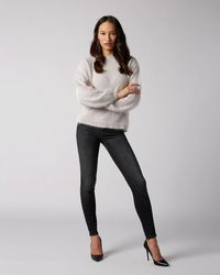 7 For All Mankind The Skinny Slim Illusion Signal With All Over Glitter
