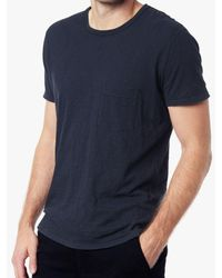 7 For All Mankind - Short Sleeve Raw Pocket Crew In Navy - Lyst