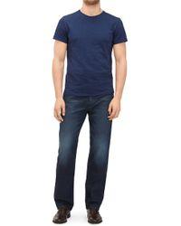 7 For All Mankind - Standard Cashmere Denim Dark Blue - Lyst