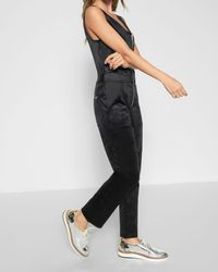 7 For All Mankind | Deep V Playsuit In Black | Lyst