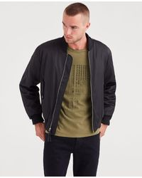 7 For All Mankind - Military Strap Bomber In Black - Lyst