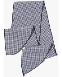 7 For All Mankind - Donni Denim Gigi Cotton Necktie In Black Mini Gingham - Lyst