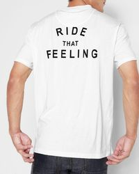 7 For All Mankind - Short Sleeve Ride That Feeling Tee In White - Lyst