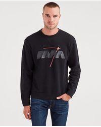 7 For All Mankind - Reversible Crewneck Sweatshirt In Black - Lyst