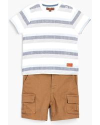 7 For All Mankind - Boy's 12m-24m Crew Neck Tee & Cargo In Deep Well - Lyst
