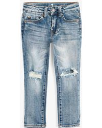 7 For All Mankind - Boy's 4-7 Slimmy In Outlaw - Lyst