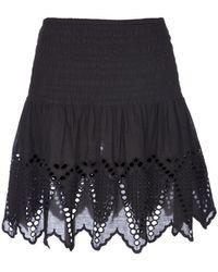 Ulla Johnson Cotton Eyelet Mini Skirt - Lyst