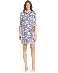 Diane von Furstenberg Dvf Taffy Cotton Shirt Dress - Lyst