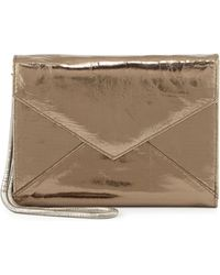 Romy Gold - Metallic Leather Flap-top Wallet - Lyst